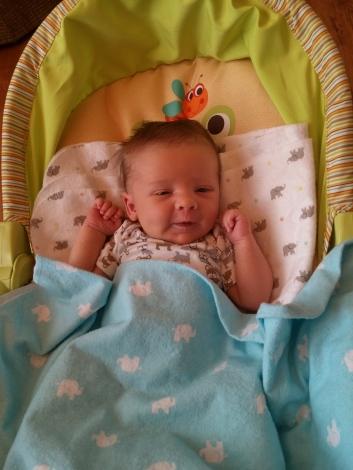 Smiling 5 weeks old
