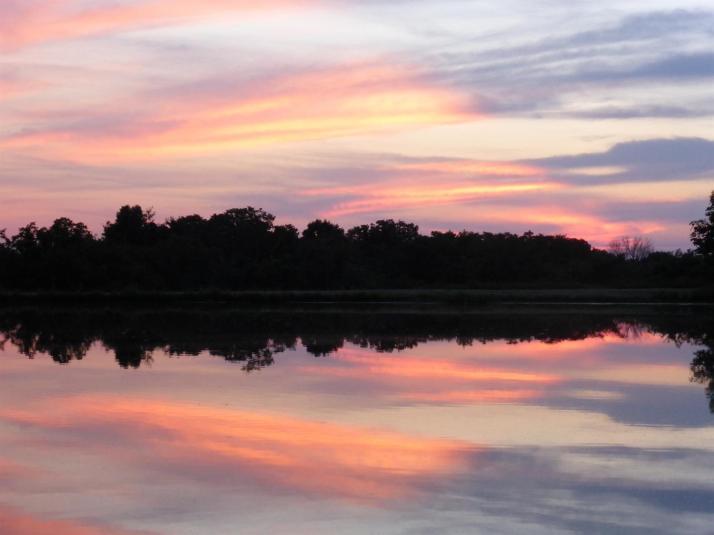Sunset Pink Lake